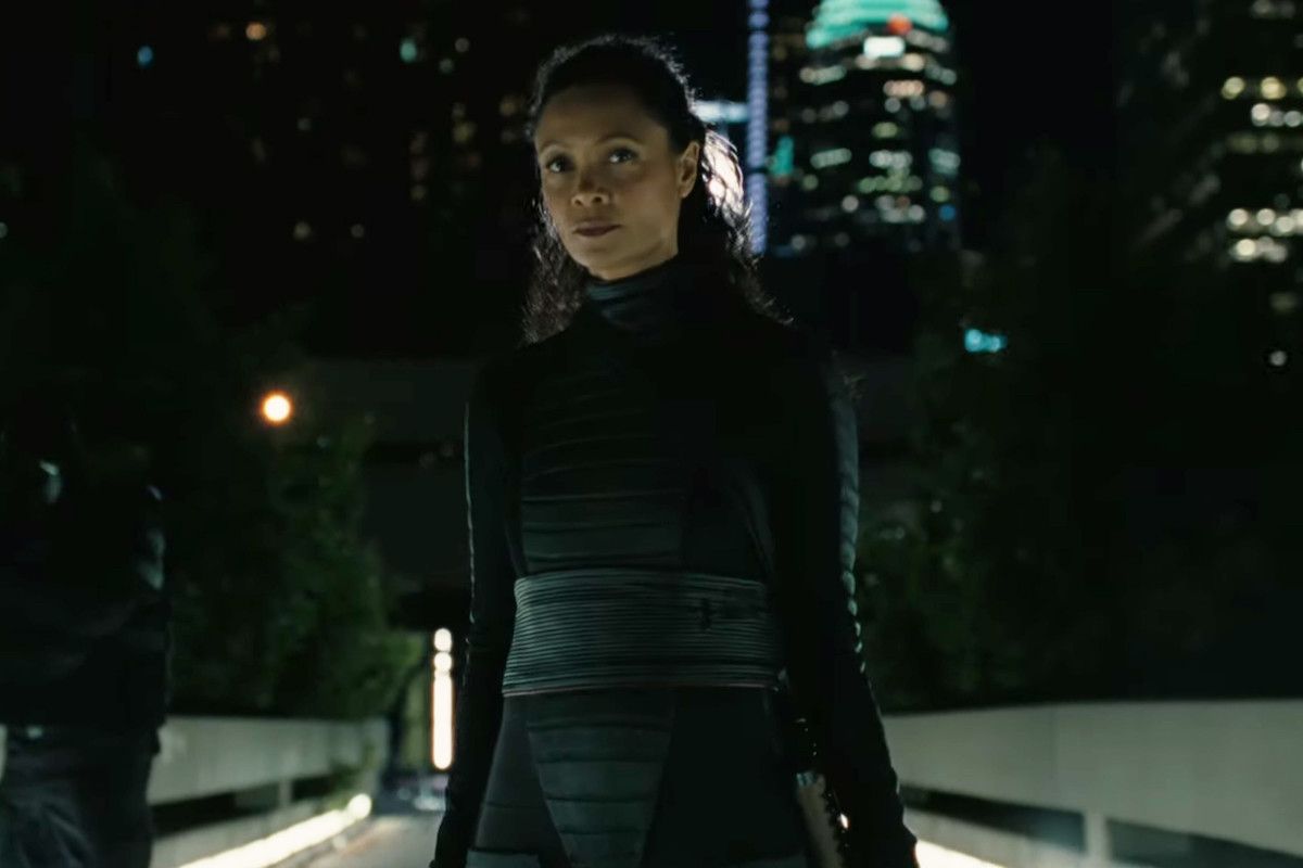 Maeve (Thandie Newton) in Westworld 3