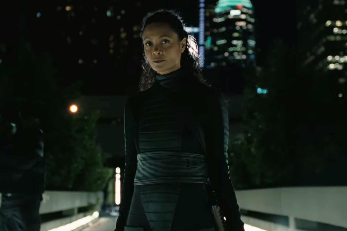 Maeve (Thandie Newton) in Westworld 3