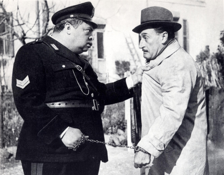 Aldo Fabrizi e Totò in Guardie e ladri (1951)