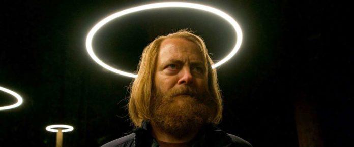 Il CEO Forest (Nick Offerman) nell'immagine simbolo di DEVS