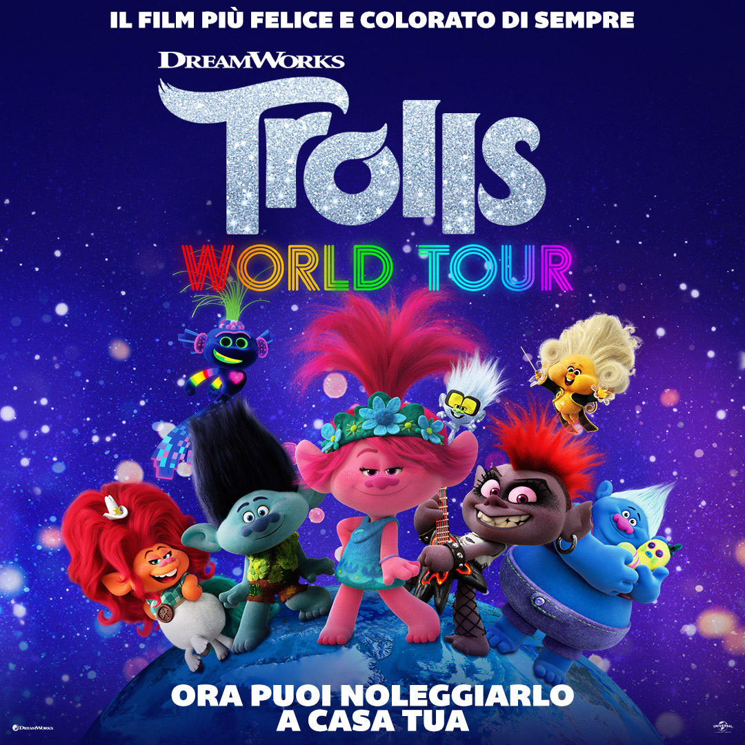 Trolls World Tour in streaming on demand