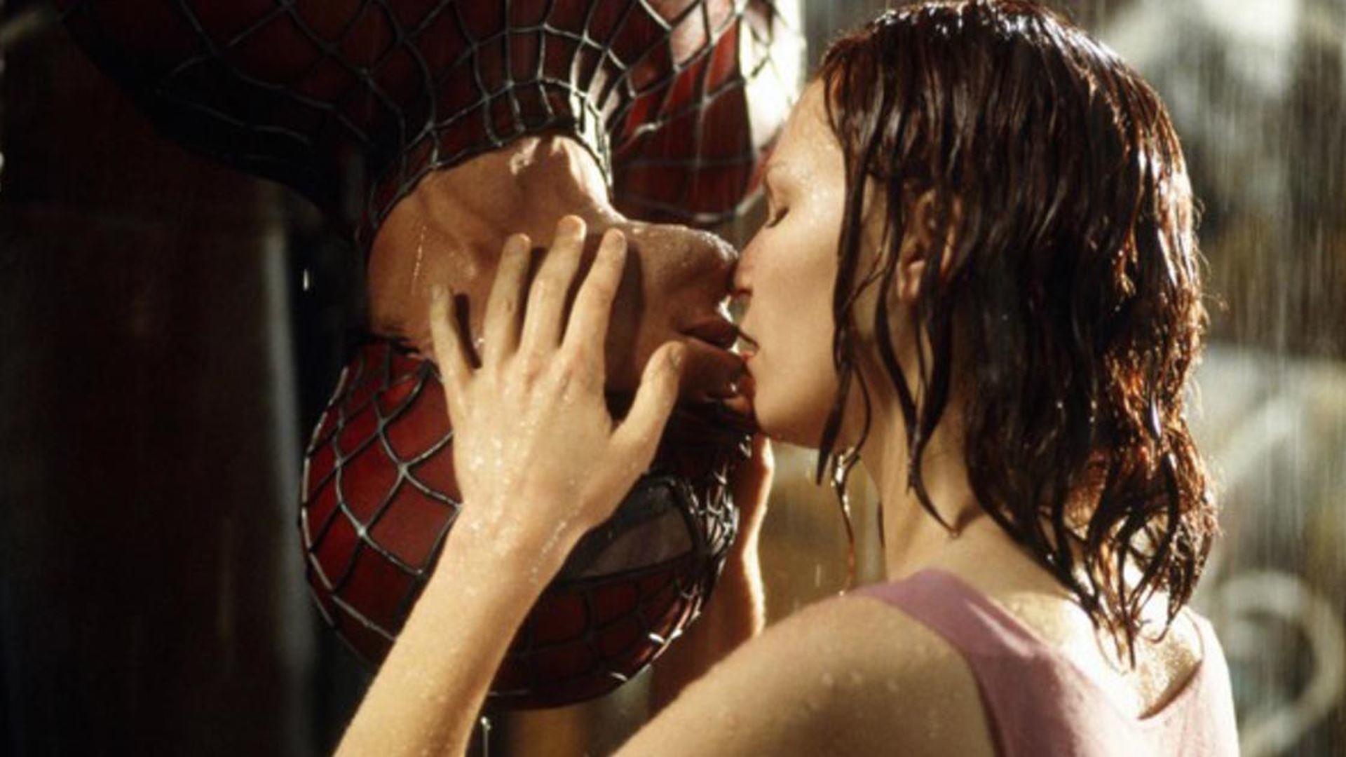 Kirsten Dunst bacio in Spider-Man