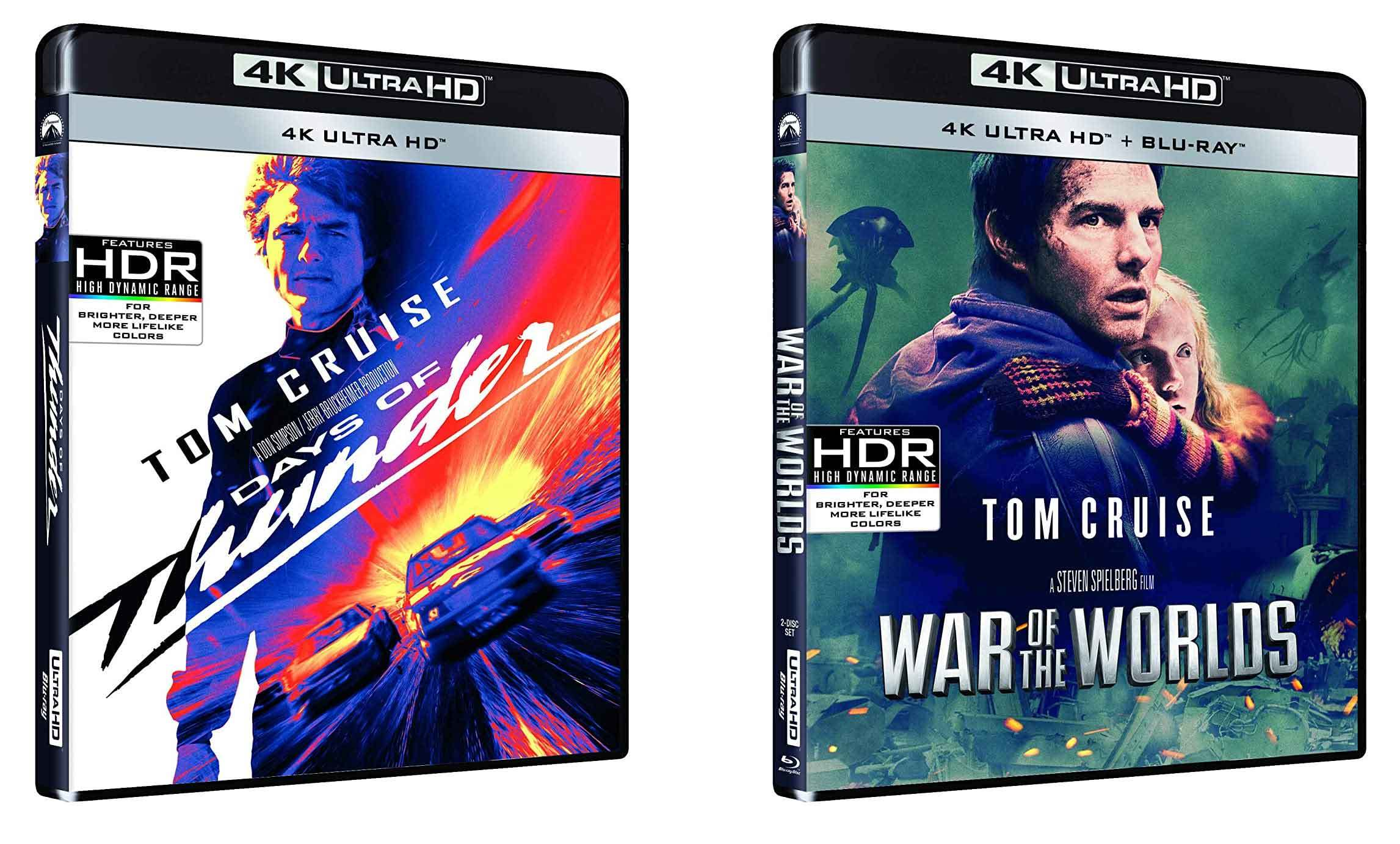 Giorni di tuono e La guerra dei mondi in 4K Ultra HD