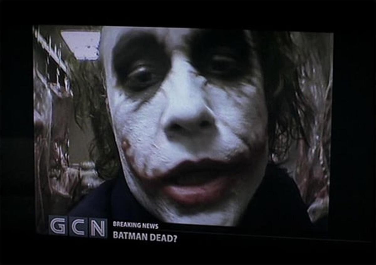 Il video messaggio del Joker di Heath Ledger