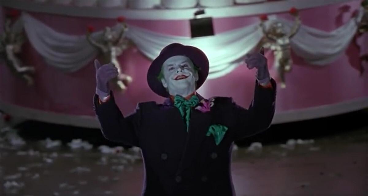 """Vieni qui"" del Joker di Jack Nicholson"