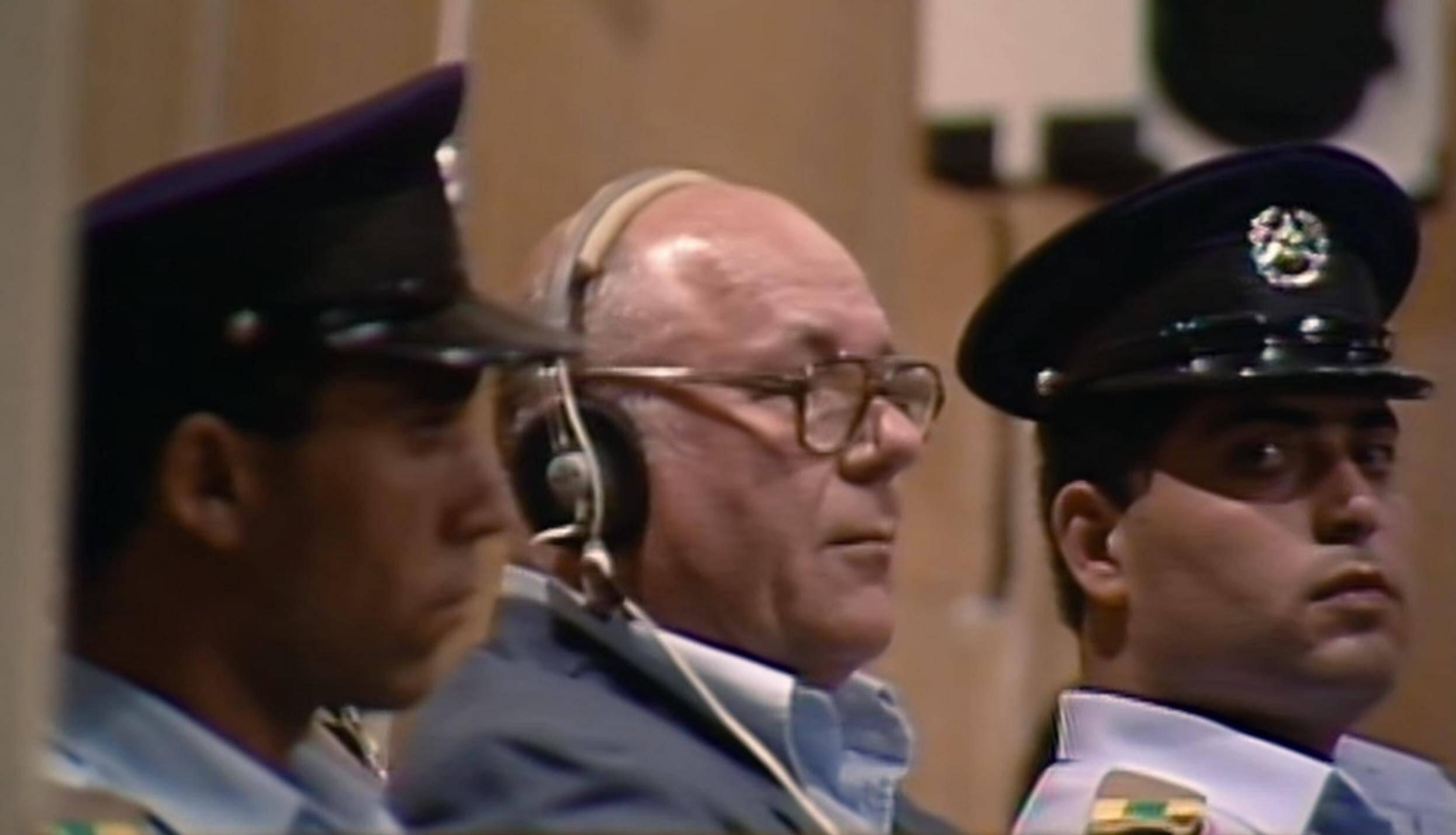 Ivan Demjanjuk durante il Processo a Israele