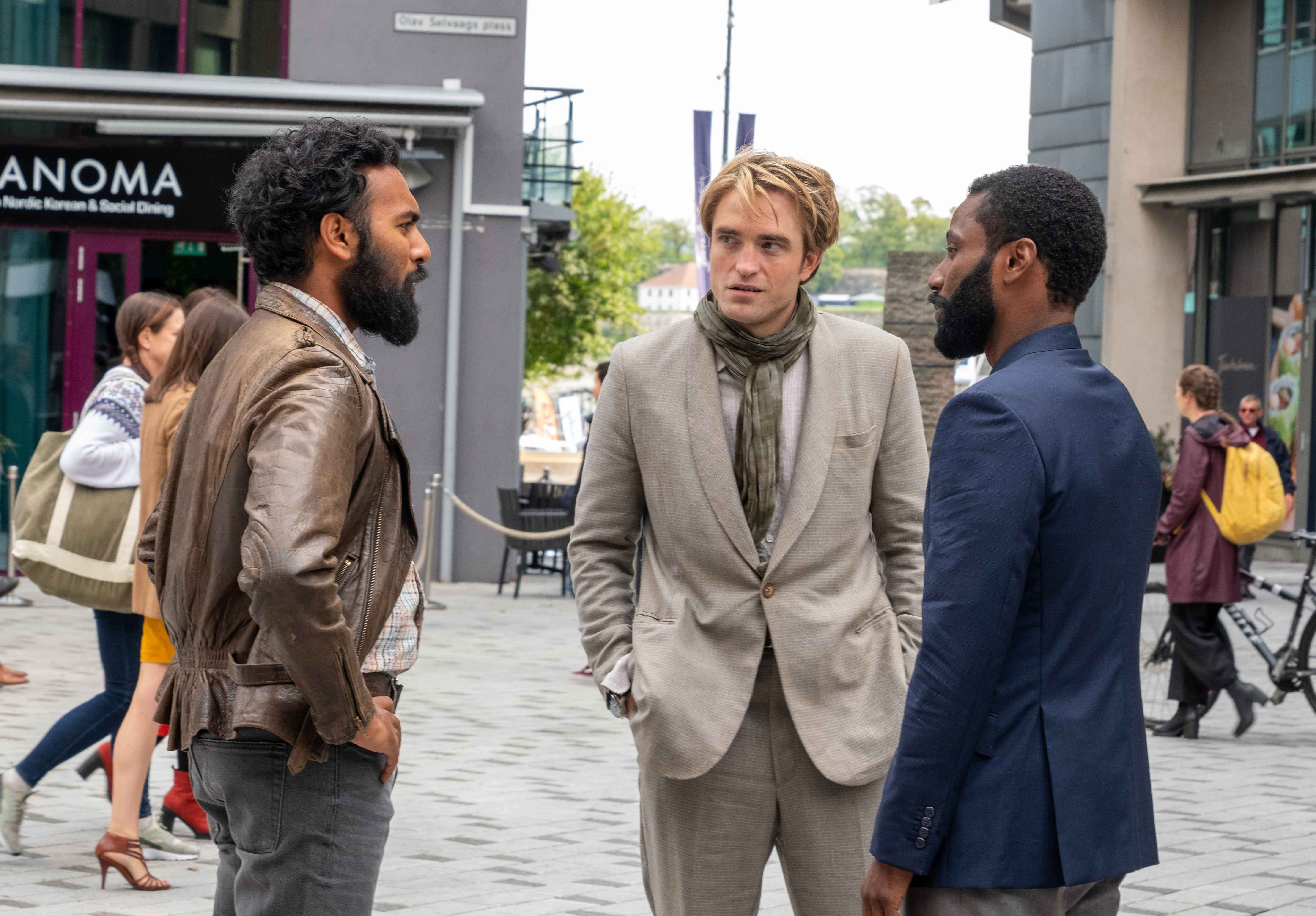 Himesh Patel, Robert Pattinson e John David Washington
