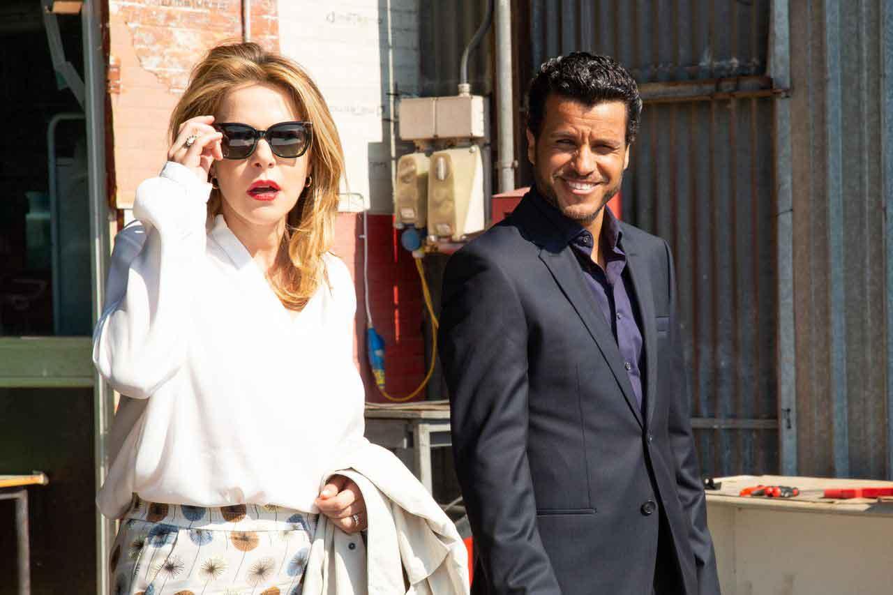 Claudia Gerini e Mohamed Zouaoui