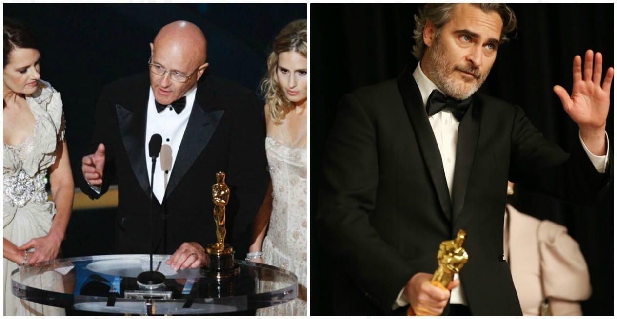 La famiglia di Heath Ledger e Joaquin Phoenix ritirano l'Oscar al miglior attore
