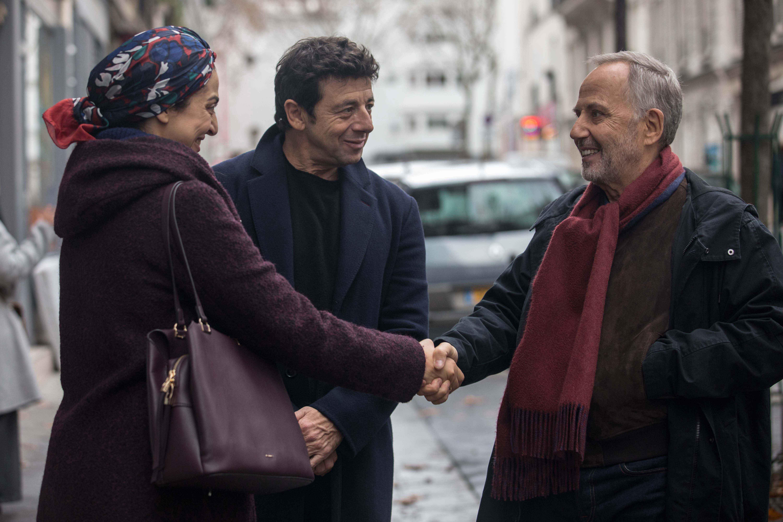 Fabrice Luchini, Patrick Bruel e Zineb Triki