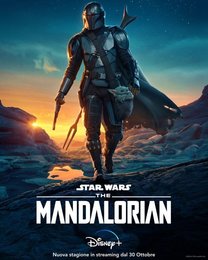 Il poster della seconda stagione di The Mandalorian