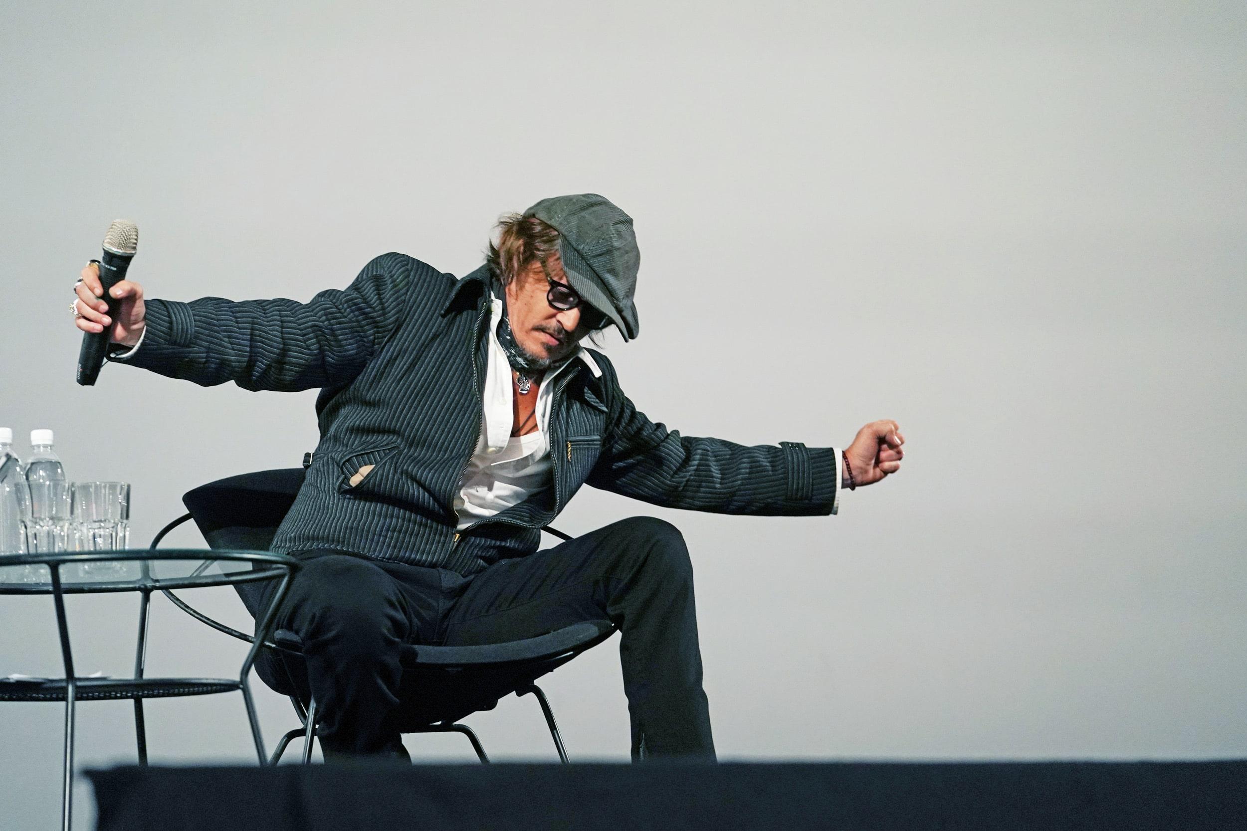Depp a Zurigo durante lo Zurich Film Festival 2020