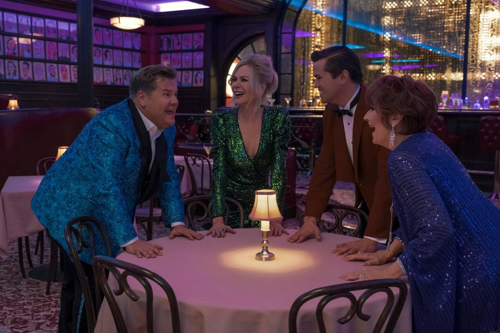 James Corden, Nicole Kidman, Andrew Rannells e Meryl Streep