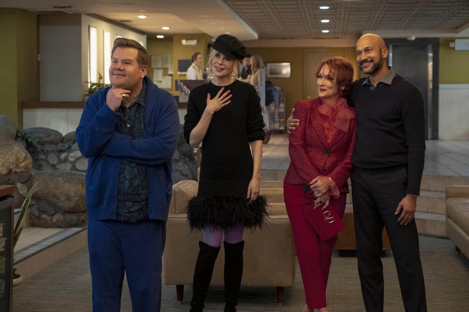 James Corden, Nicole Kidman, Meryl Streep e Keegan-Michael Key