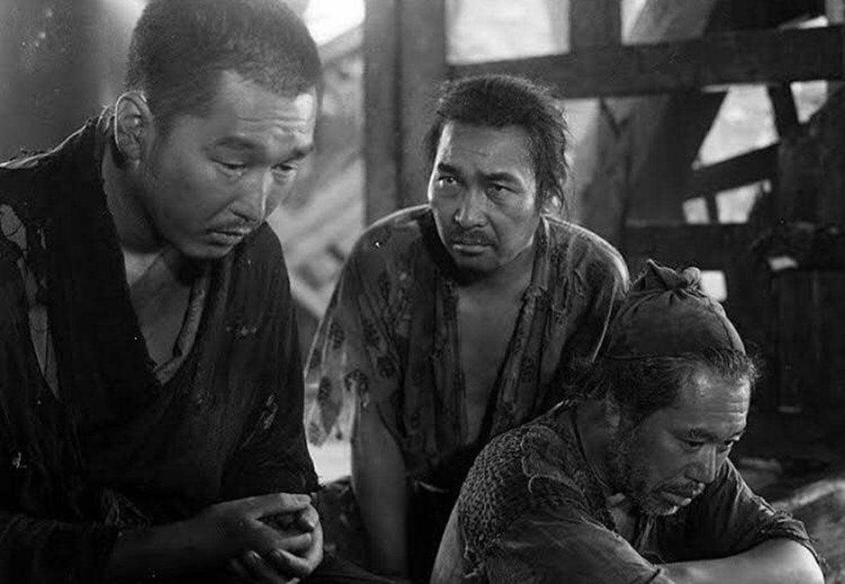 Minoru Chiaki (il monaco), Kichijiro Ueda (il vagabondo), Takashi Shimura (il boscaiolo)
