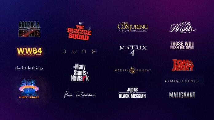 Warner Bros. rilascia in streaming intero listino cinema 2021