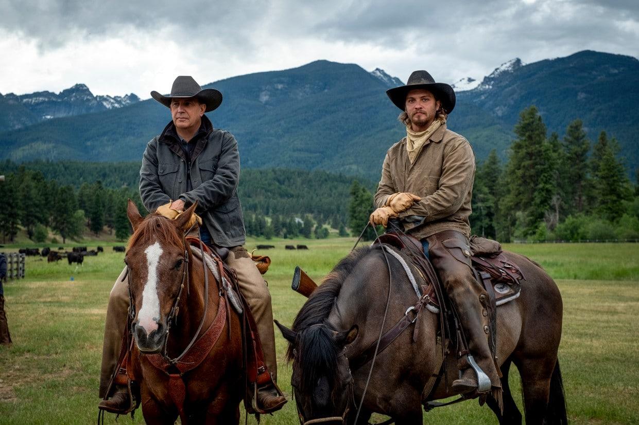 Kevin Costner e Luke Grimes
