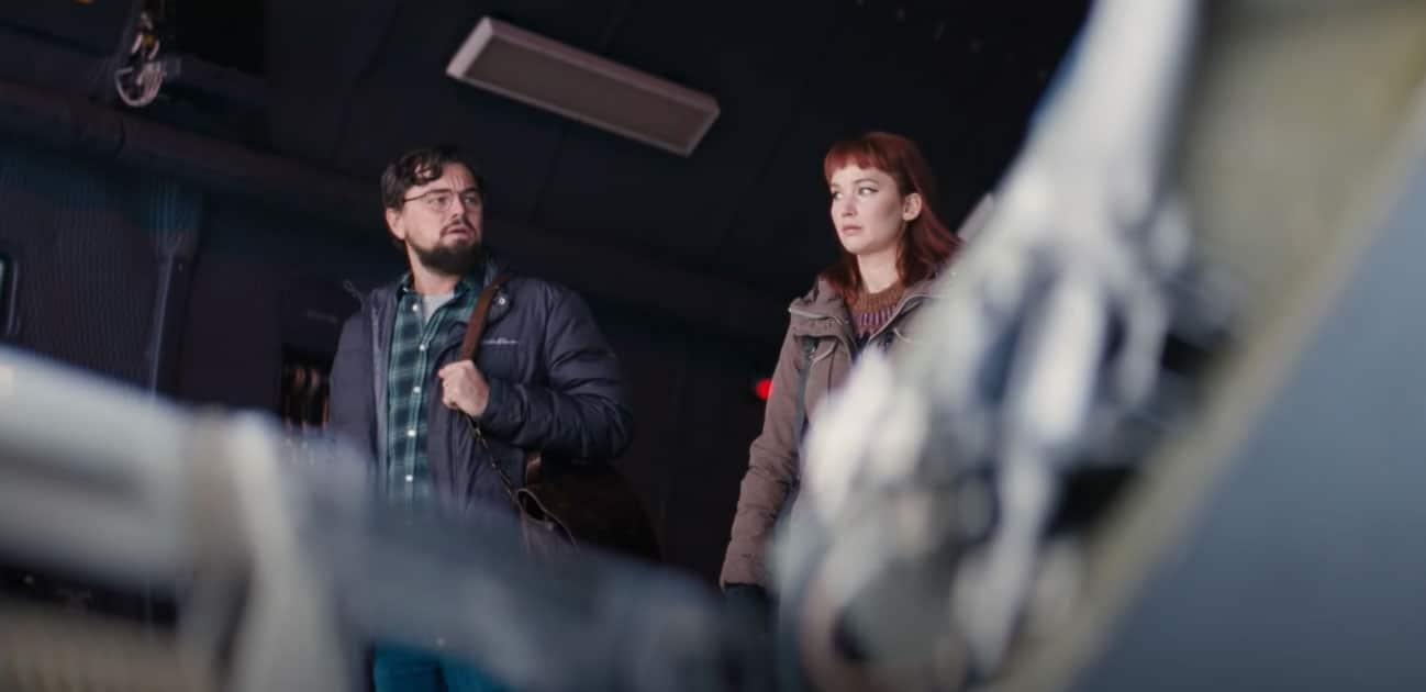 Leonardo DiCaprio e Jennifer Lawrence inDon't Look Up