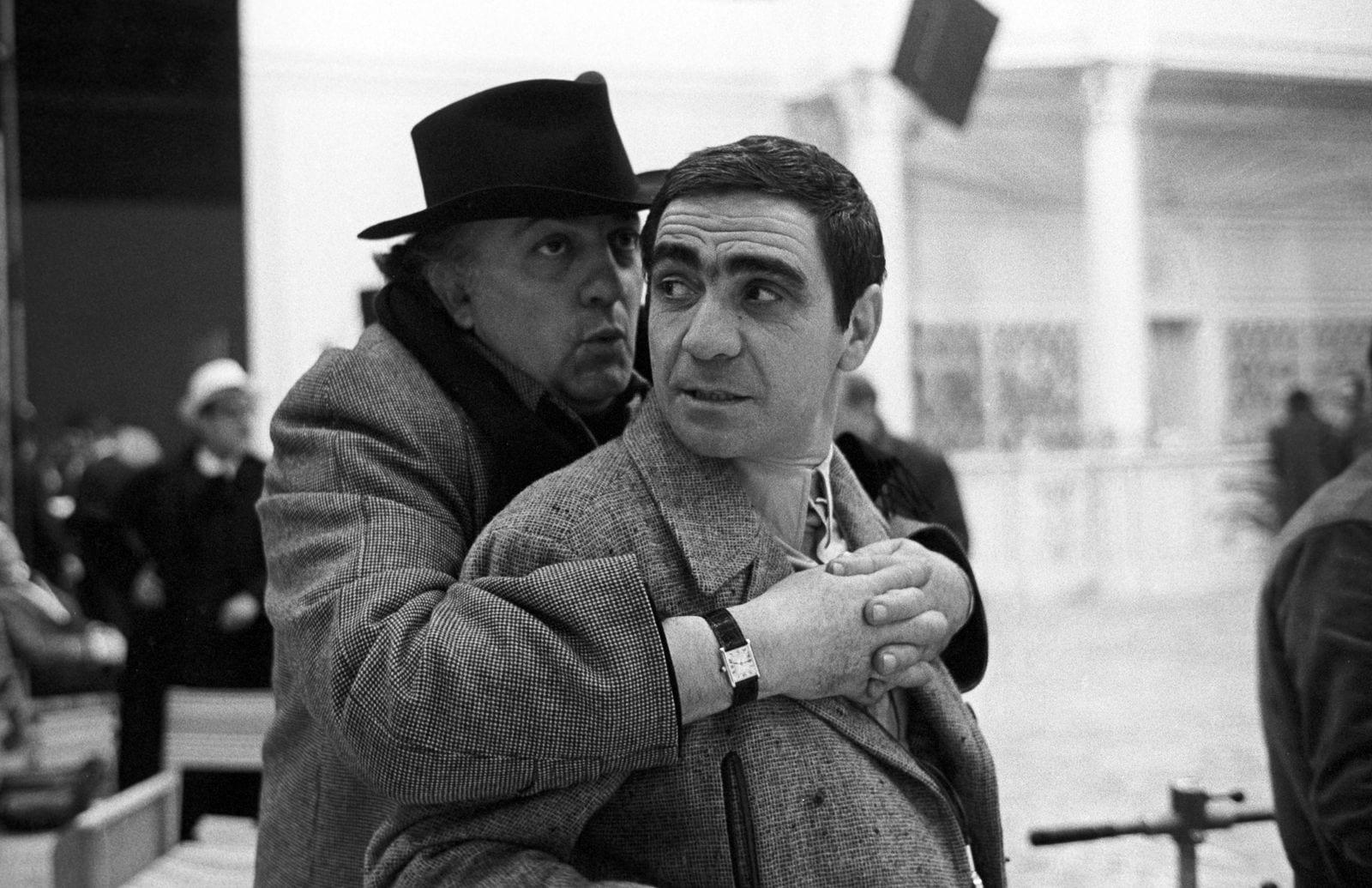 Federico Fellini e Peppino Rotunno