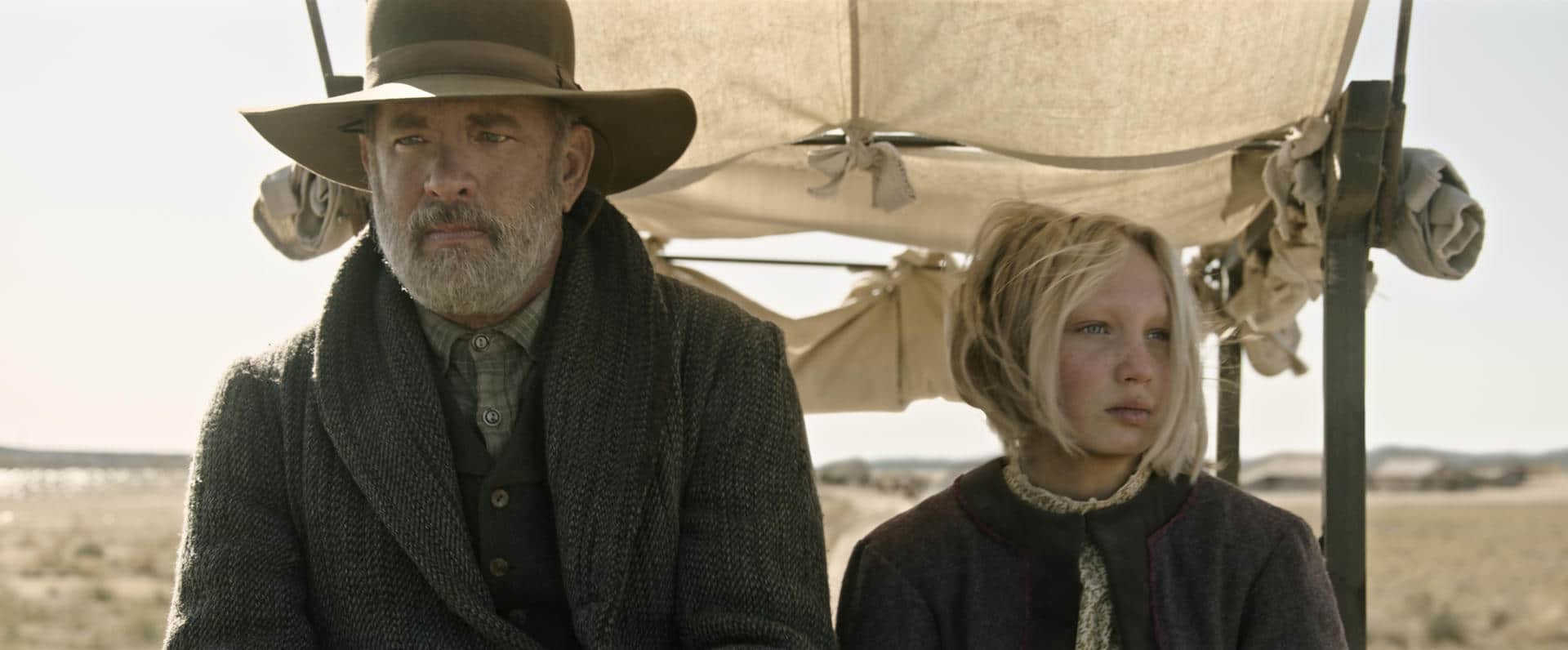Notizie dal mondo recensione film di Paul Greengrass con Tom Hanks e Helena Zengel