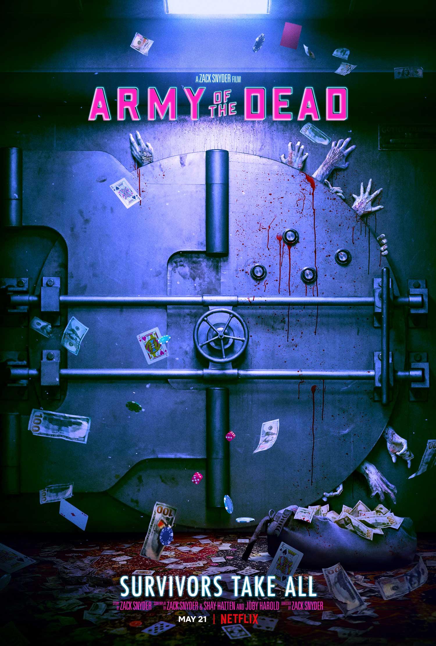 Il poster di Army of the Dead, dal 21 maggio su Netflix