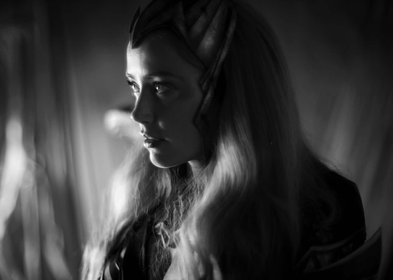 Amber Heard come Mera fotografata da Zack Snyder