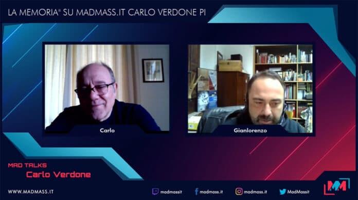 Carlo Verdone e La carezza della memoria: l'intervista live sul canale Twitch di MadMass.it