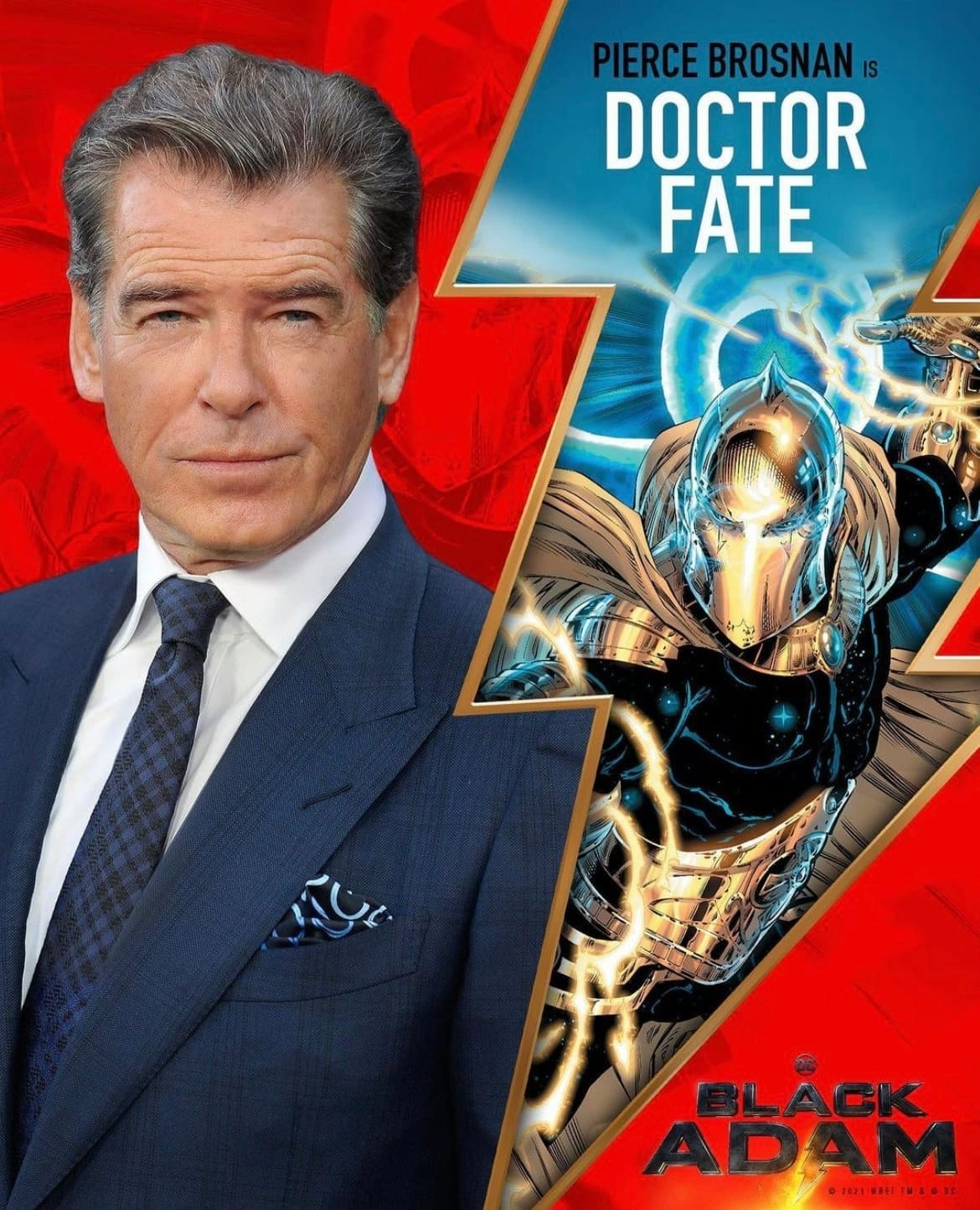 Pierce Brosnan sarà l'antagonista di Black Adam, Dr. Fate