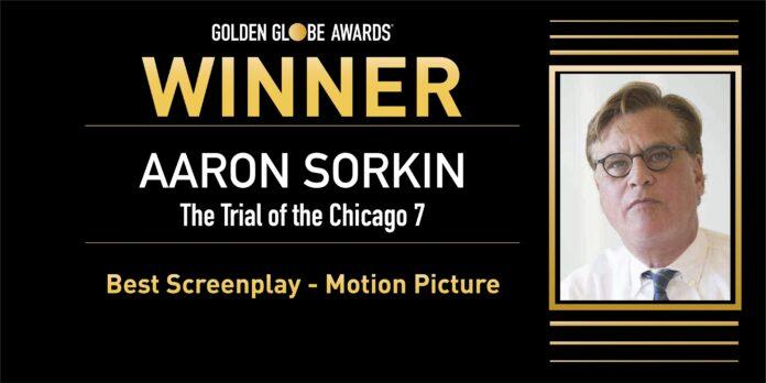 Aaron Sorkin Miglior Sceneggiatura con Il processo ai Chicago 7