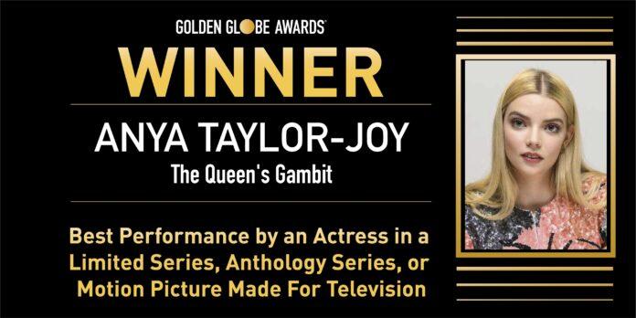 Golden Globe 2021: Anya Taylor-Joy e La regina degli scacchi migliore attrice e miniserie TV