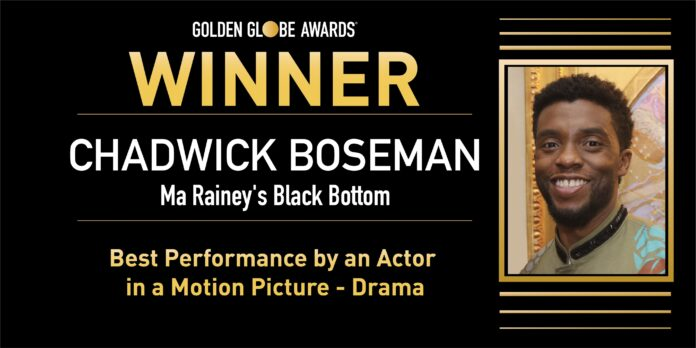 Golden Globe 2021: Chadwick Boseman Miglior Attore Protagonista in un Film Drammatico