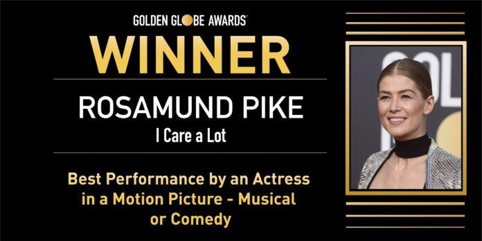 Golden Globe 2021: Rosamund Pike Migliore Attrice Protagonista per I Care A Lot