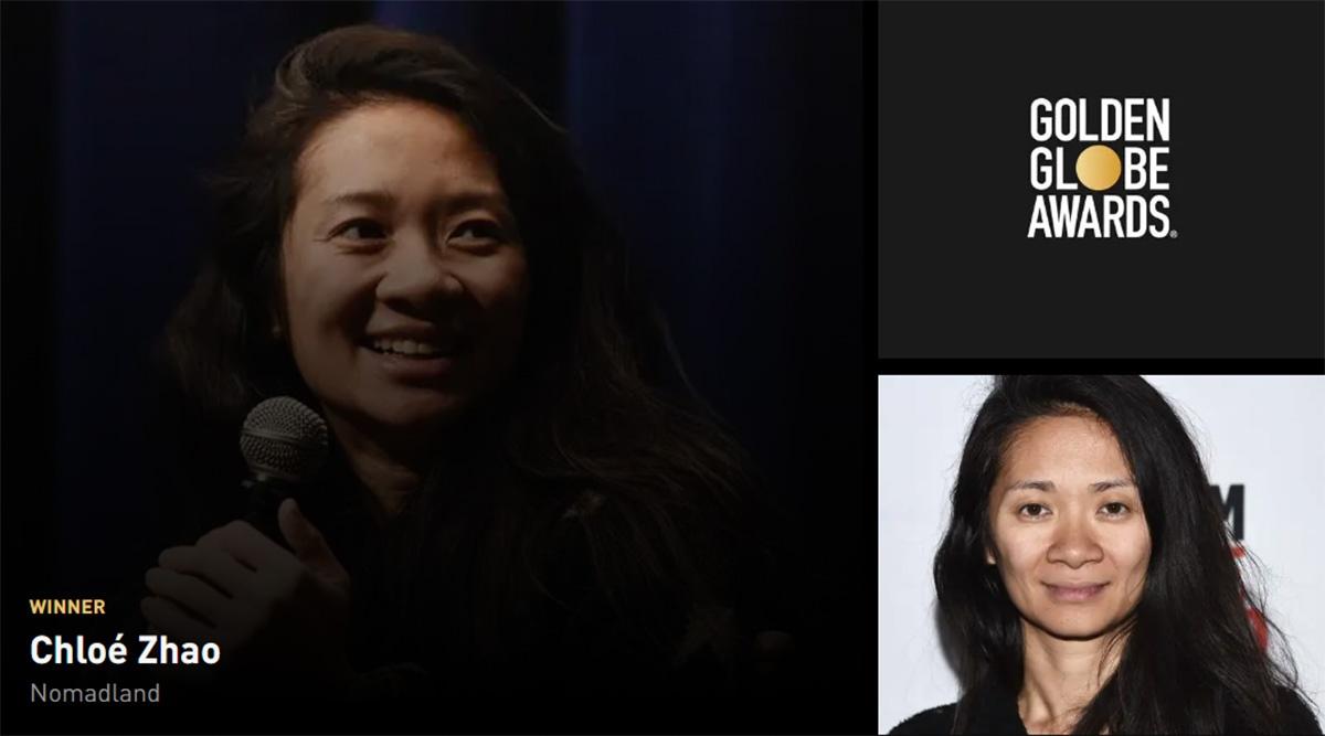 Golden Globe 2021 vincitori: vince Nomadland con Chloe Zhao migliore regista
