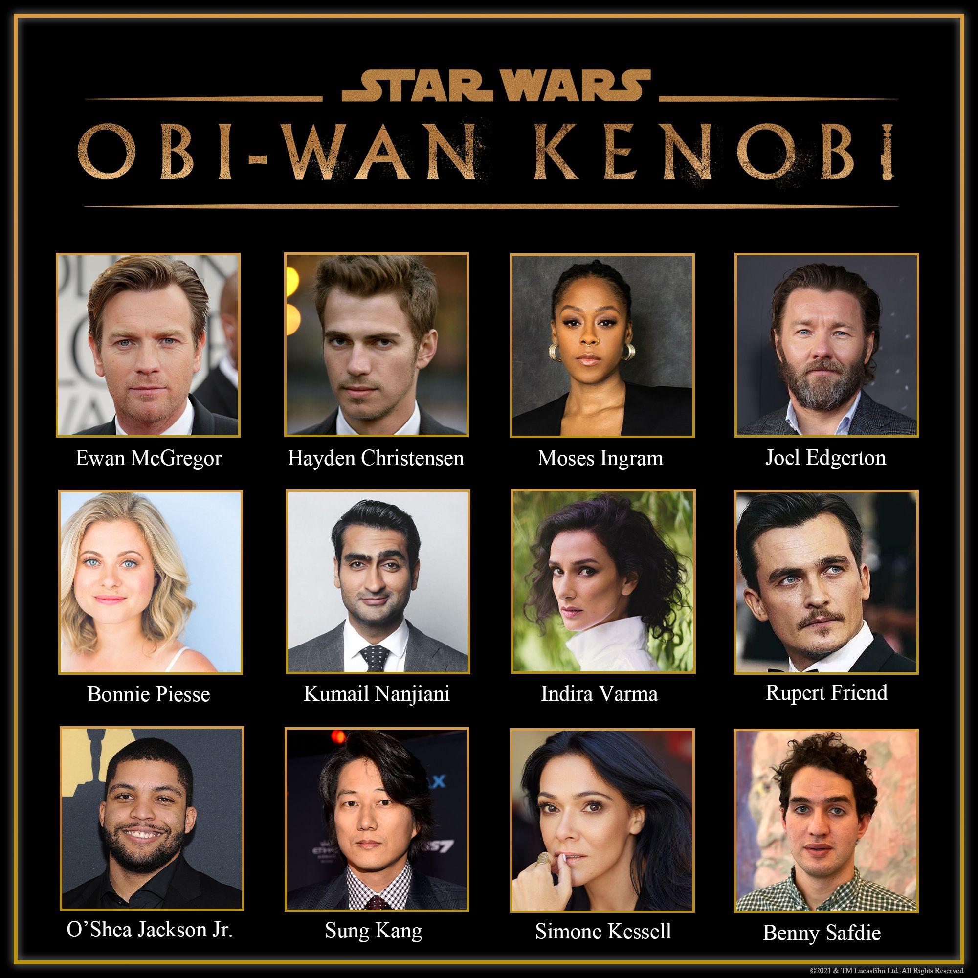 Il cast di Obi-Wan Kenobi, prossimamente su Disney+