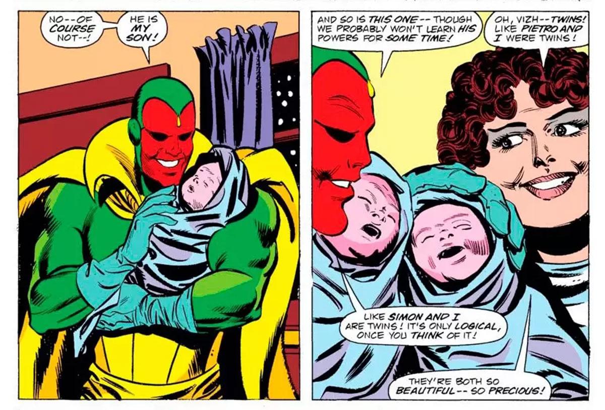 I gemelli di Wanda e Visione nel fumetto: Thomas e William