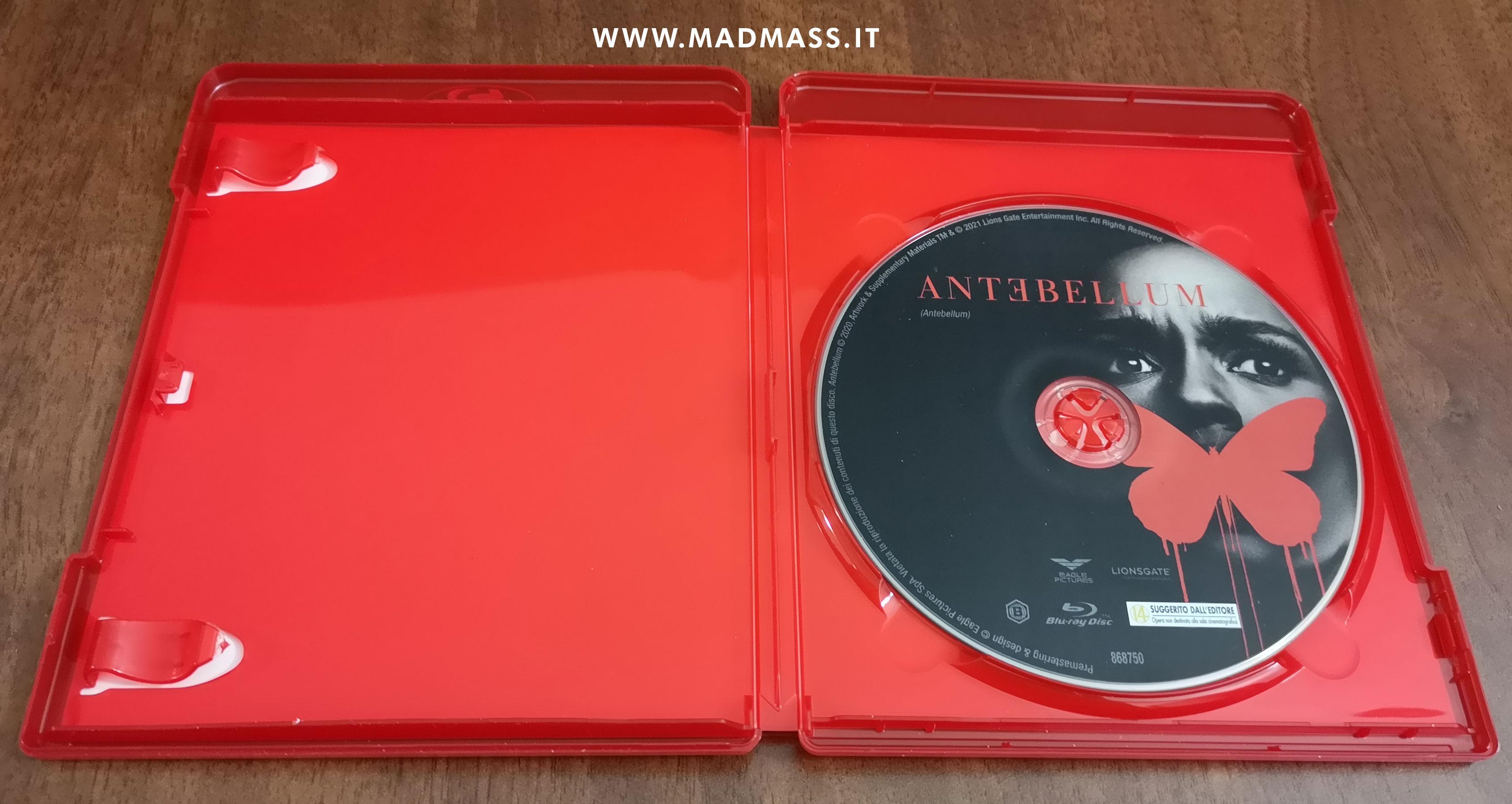 L'edizione home video in Blu-ray di Antebellum