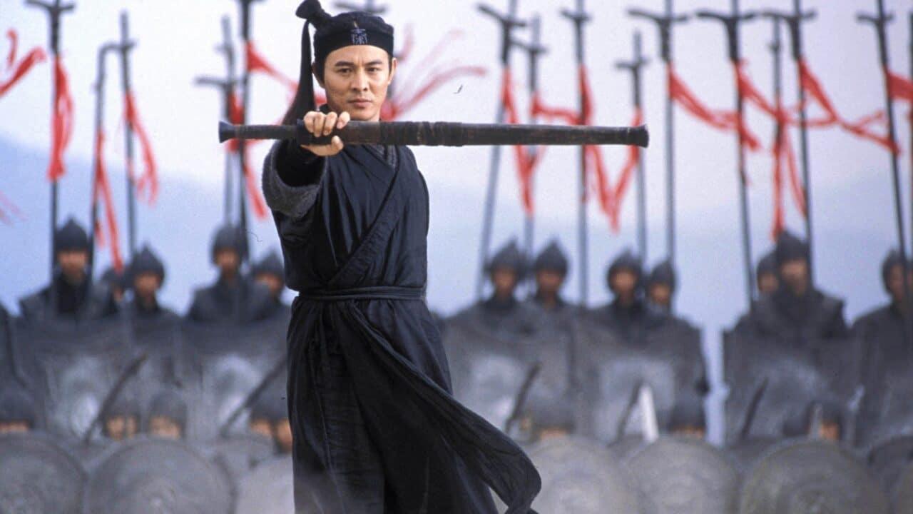 Jet Li in una scena di Hero