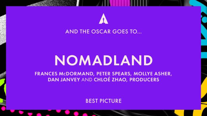 Oscar 2021: Nomadland vince miglior film Chloé Zhao Oscar alla migliore regia