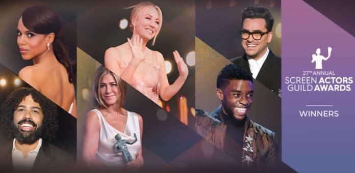 SAG Awards vincitori 2021: Screen Actors Guild premia Il processo ai Chicago 7 Chadwick Boseman e The Crown