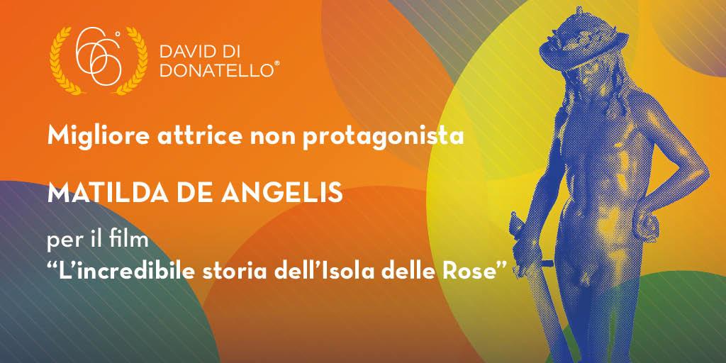 Matilda De Angelis vince il David alla Migliore Attrice Non Protagonista
