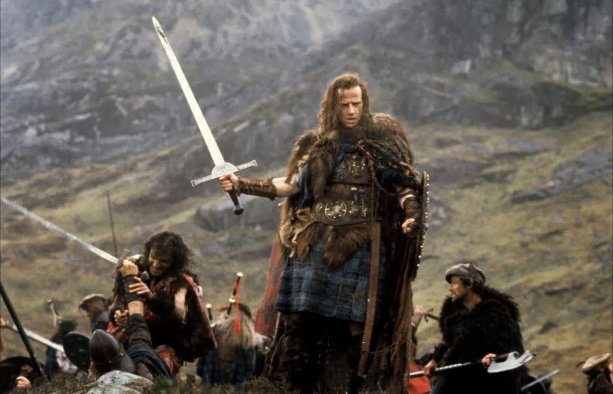 Christopher Lambert in Highlander - L'ultimo immortale del 1986