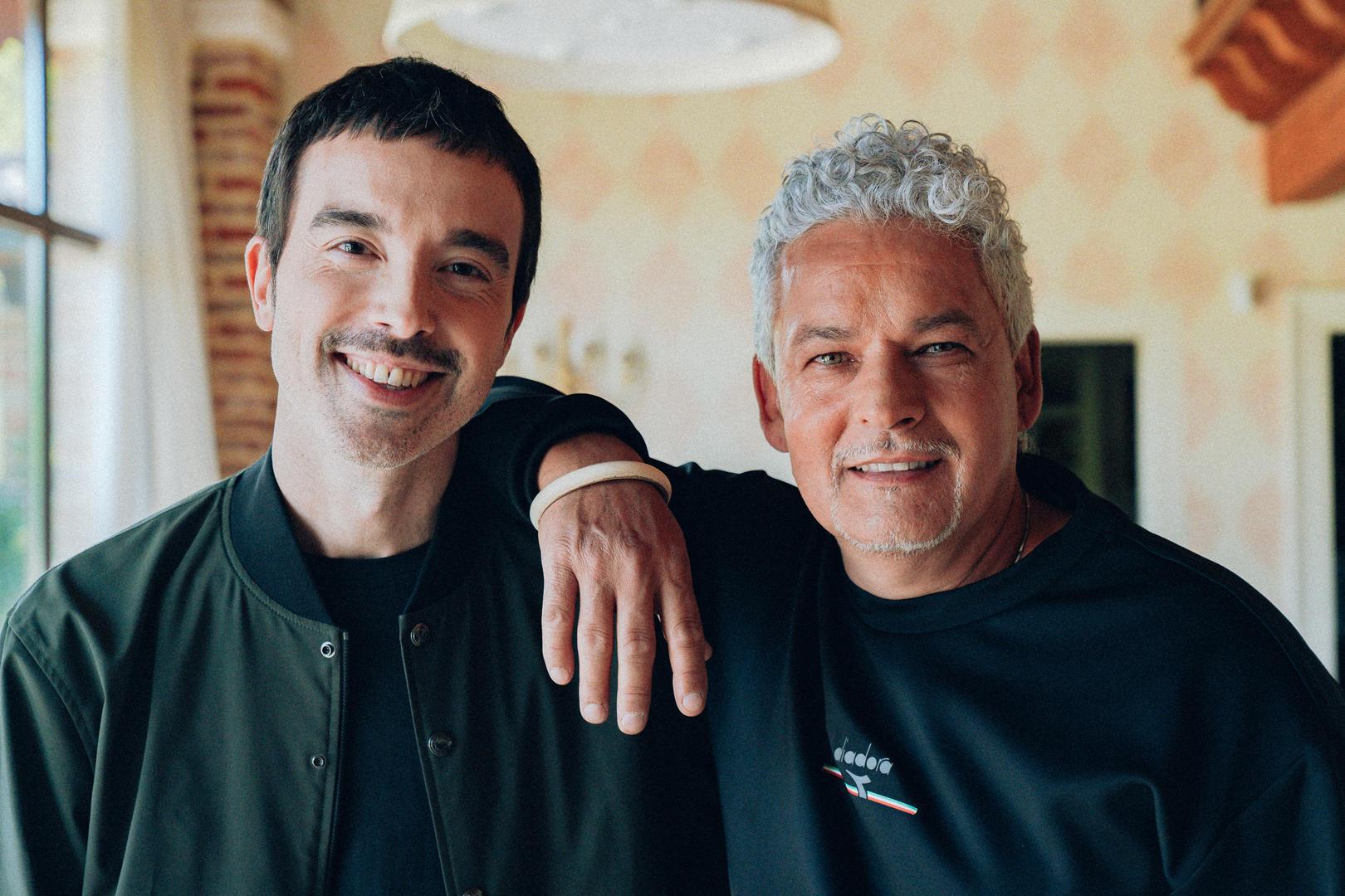 Diodato e Roberto Baggio, a cui ha dedicato la canzone L'uomo dietro il campione