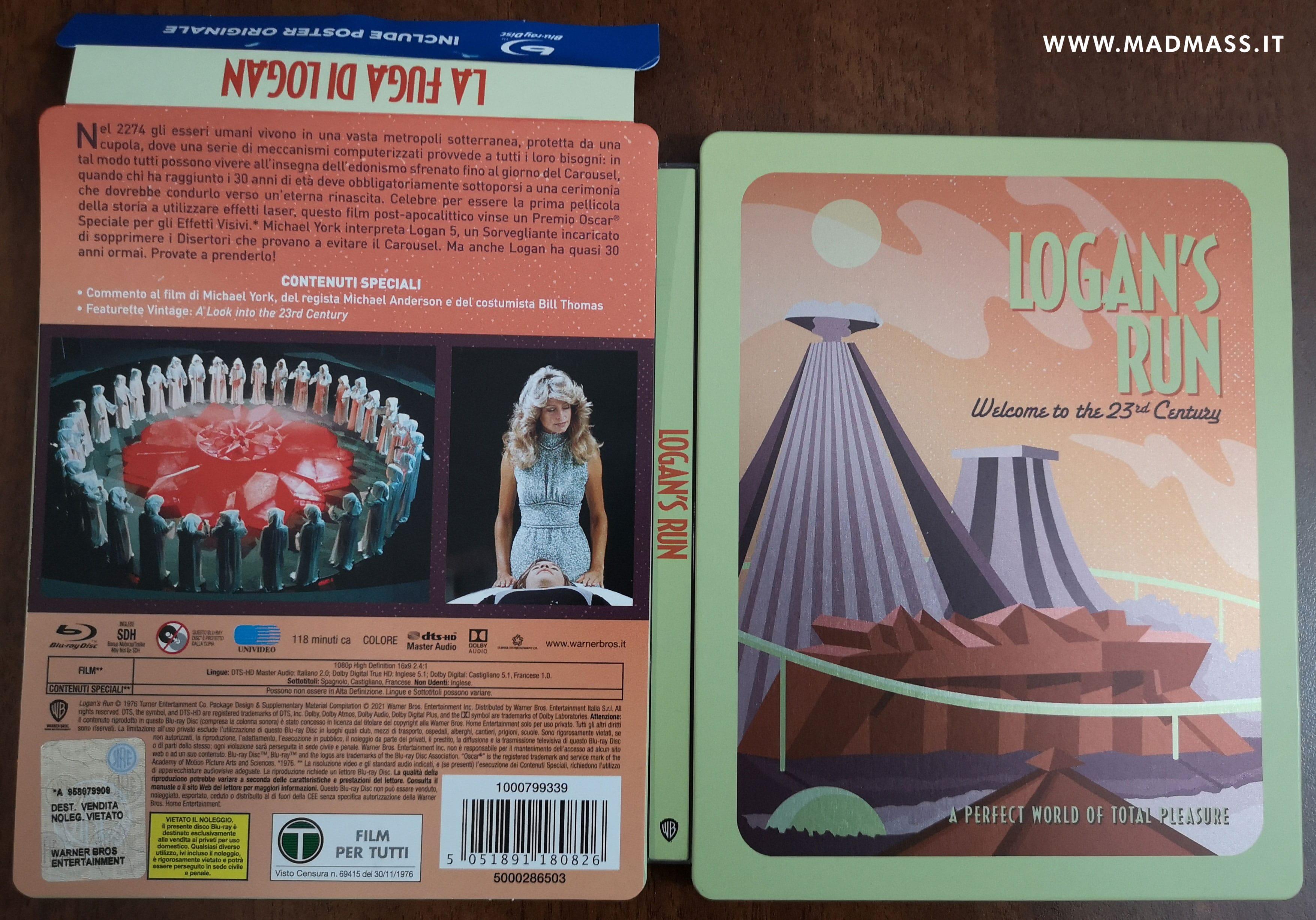 La fuga di Logan Blu-ray Steelbook 45esimo anniversario