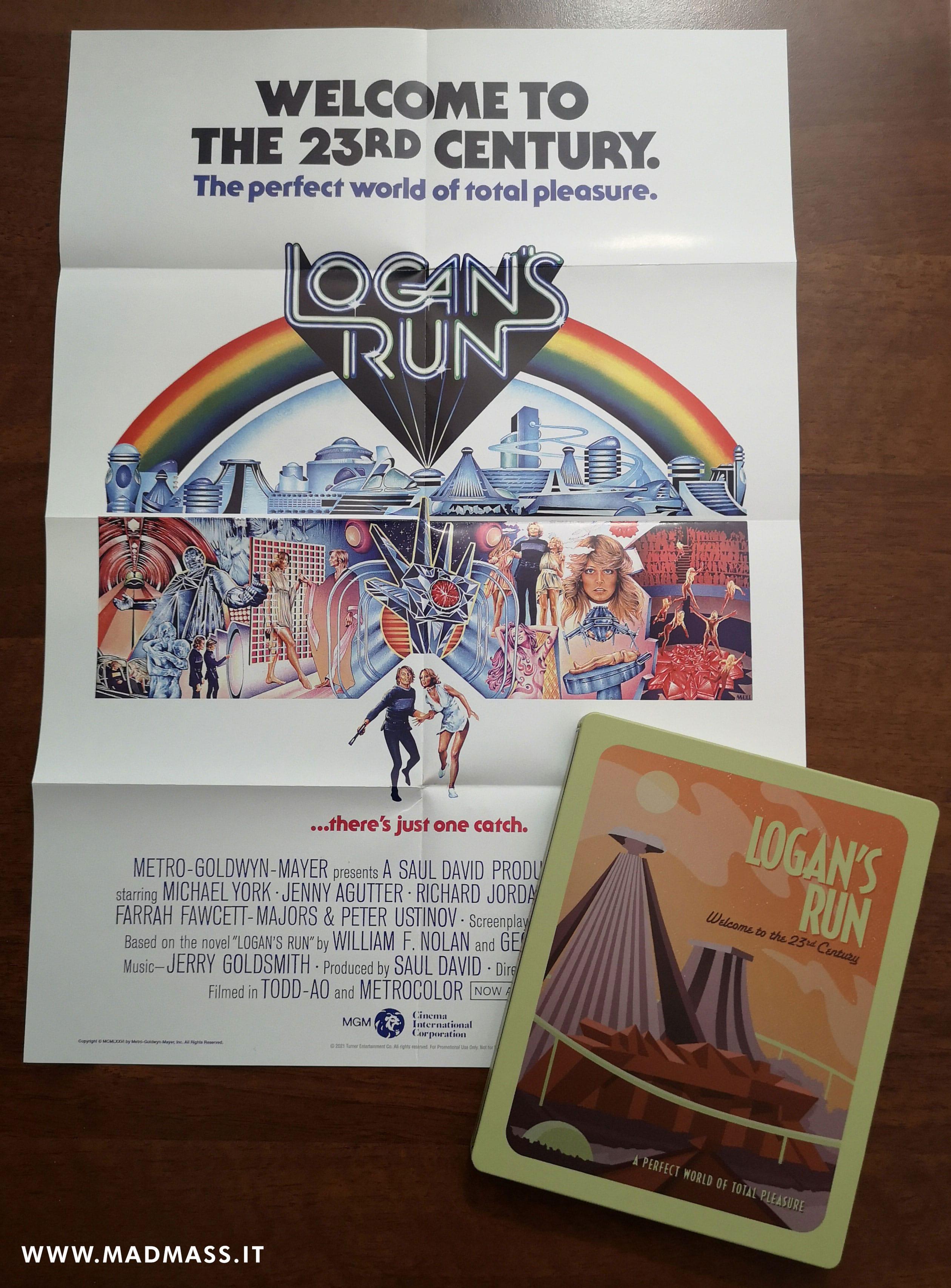 Logan's Run: il poster originale contenuto nella Steelbook