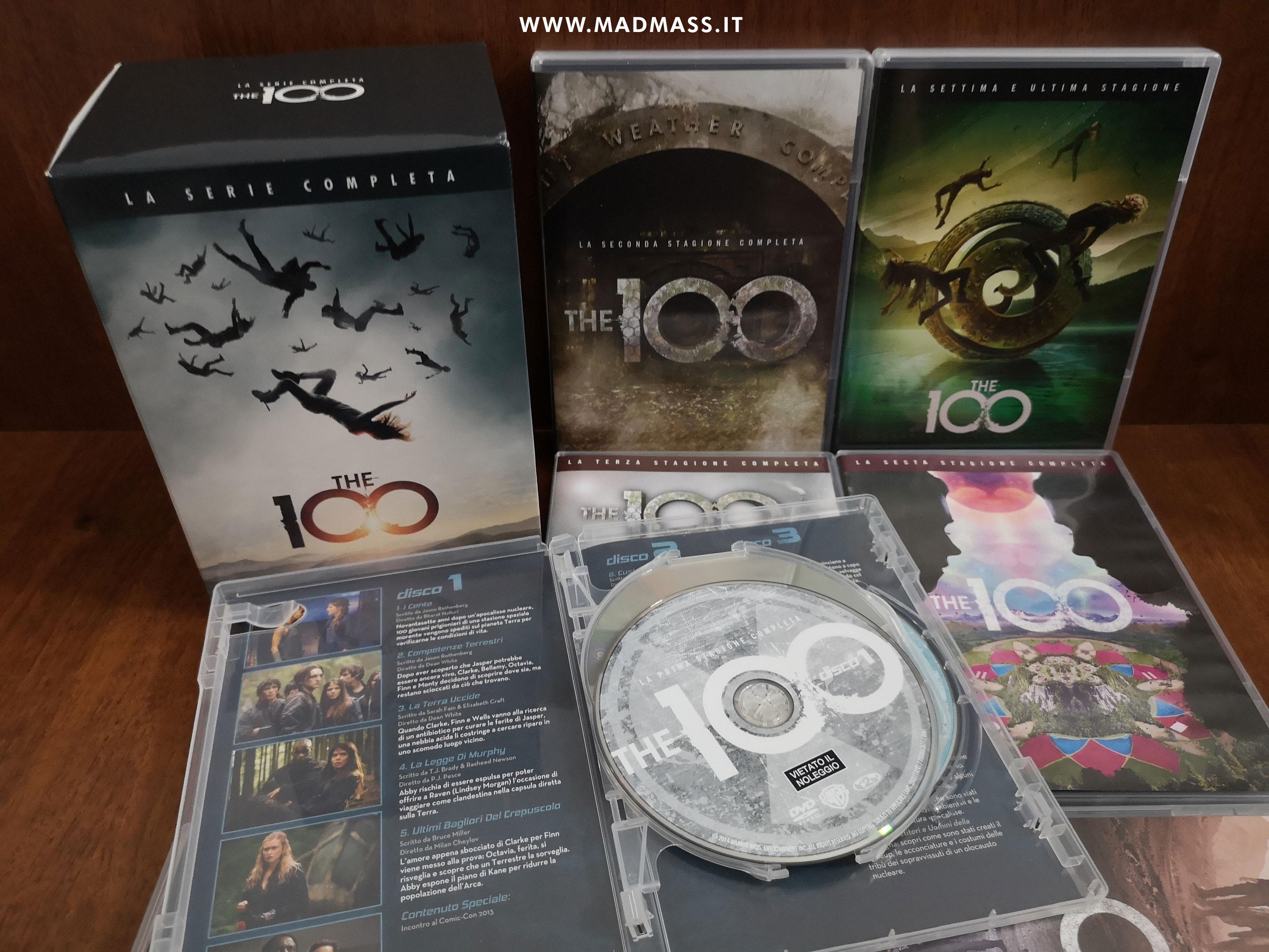 The 100 - La serie completa DVD recensione unboxing cofanetto home video stagioni 1-7