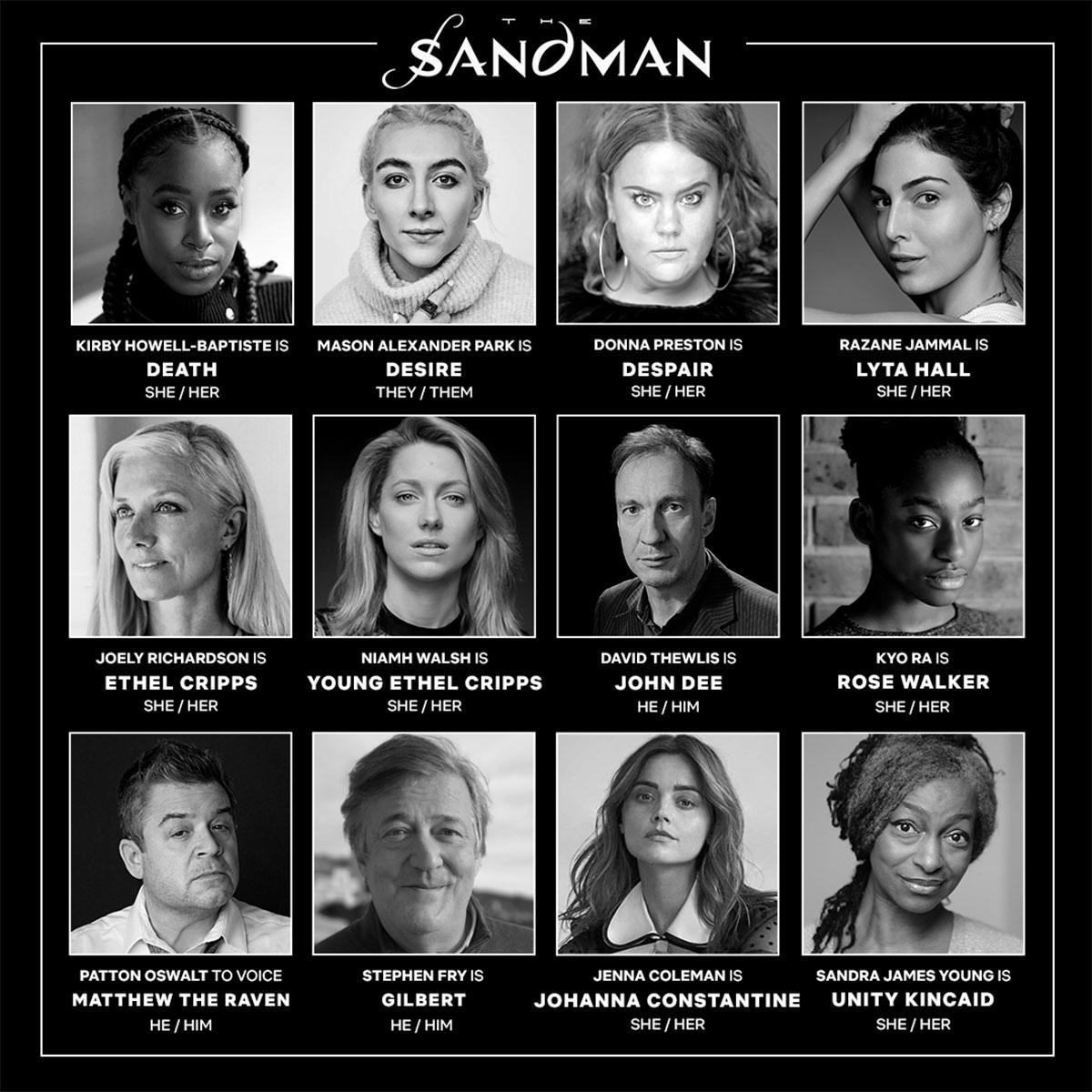 Morte Desiderio Disperazione e gli altri personaggi di The Sandman