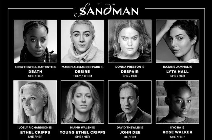 The Sandman: cast della serie Netflix Sogno Morte Desiderio Disperazione