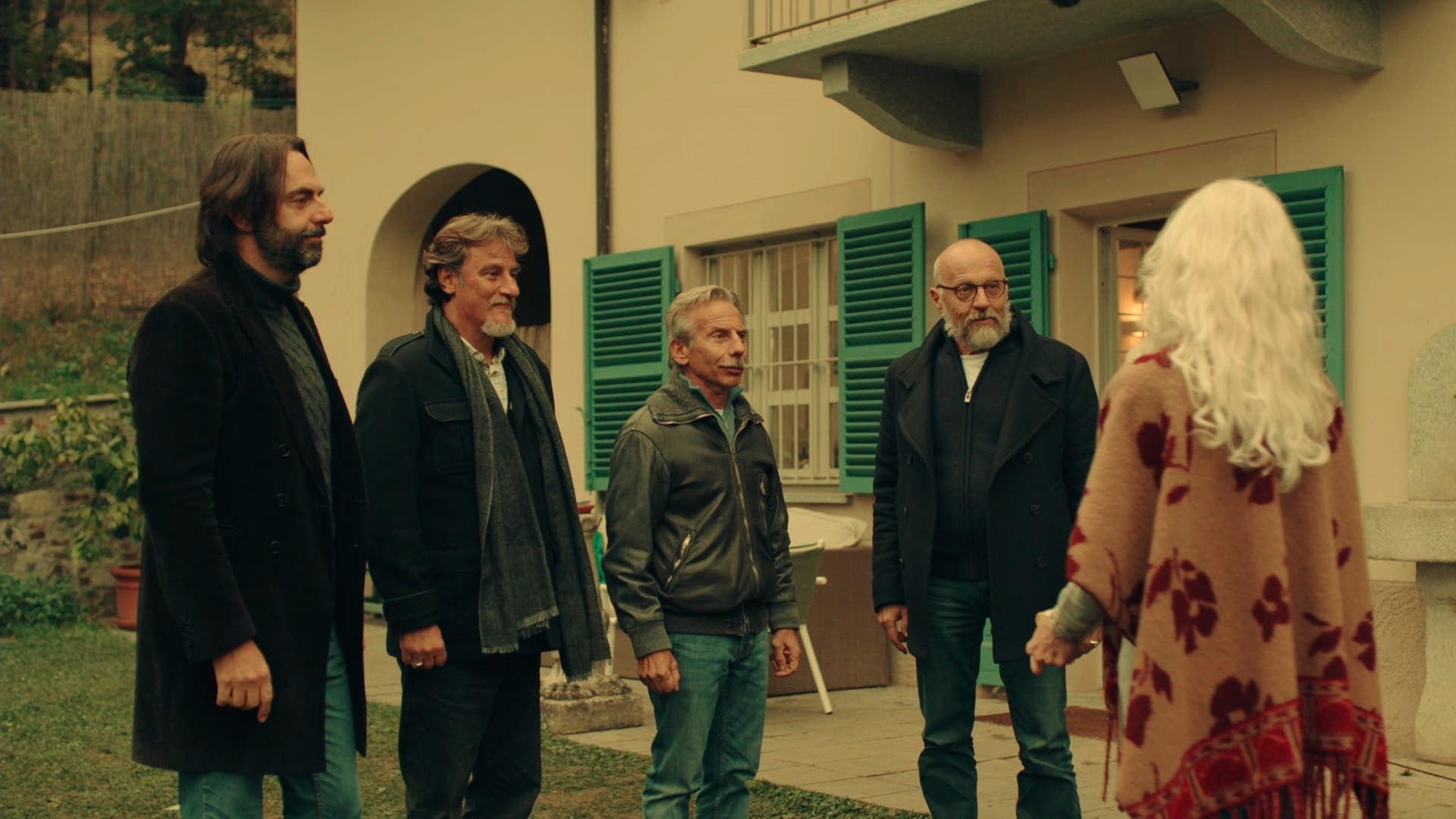 Neri Marcorè, Giorgio Tirabassi, Giovanni Storti, Marco Paolinie Isabel Russinova