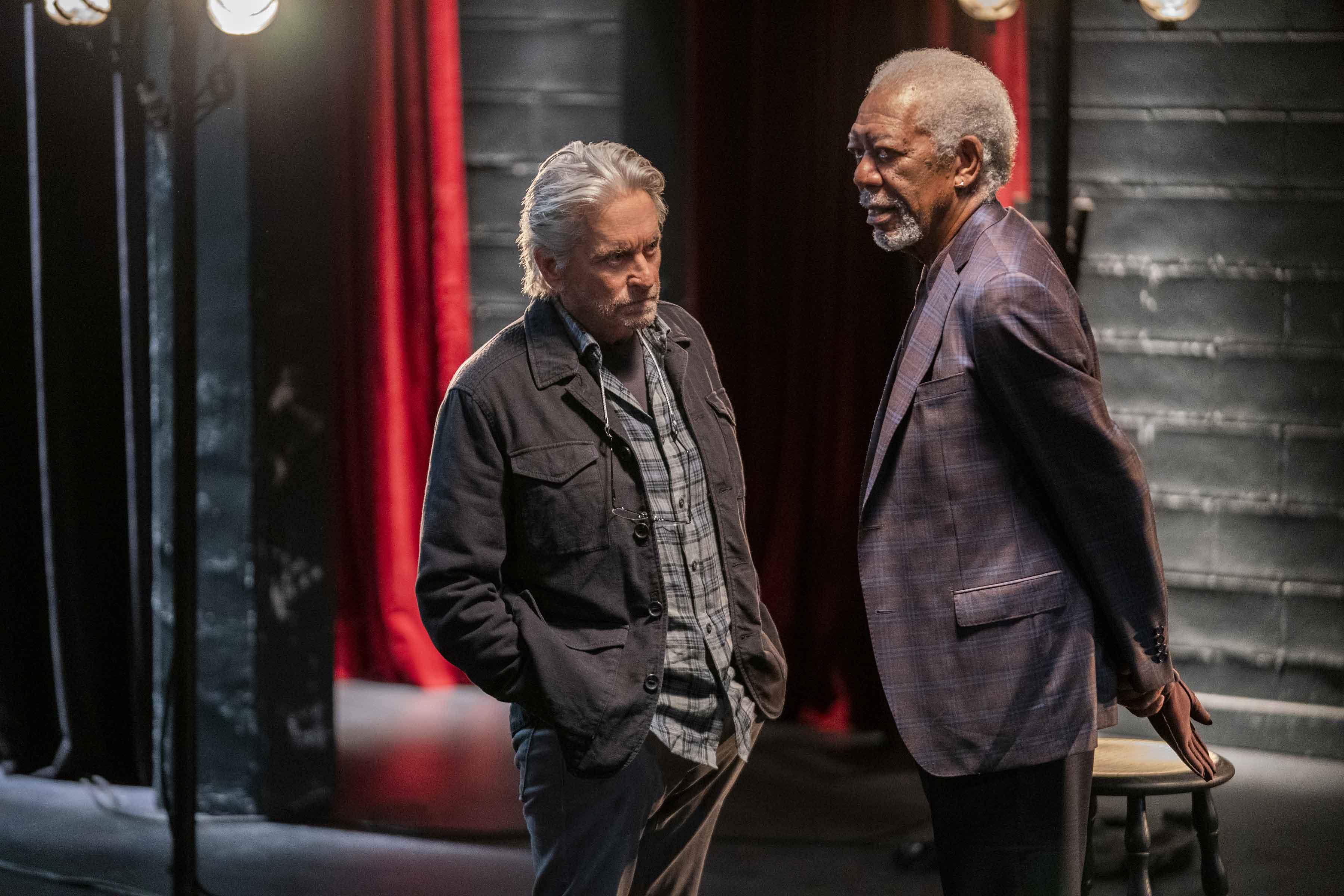 Michael Douglas e Morgan Freeman