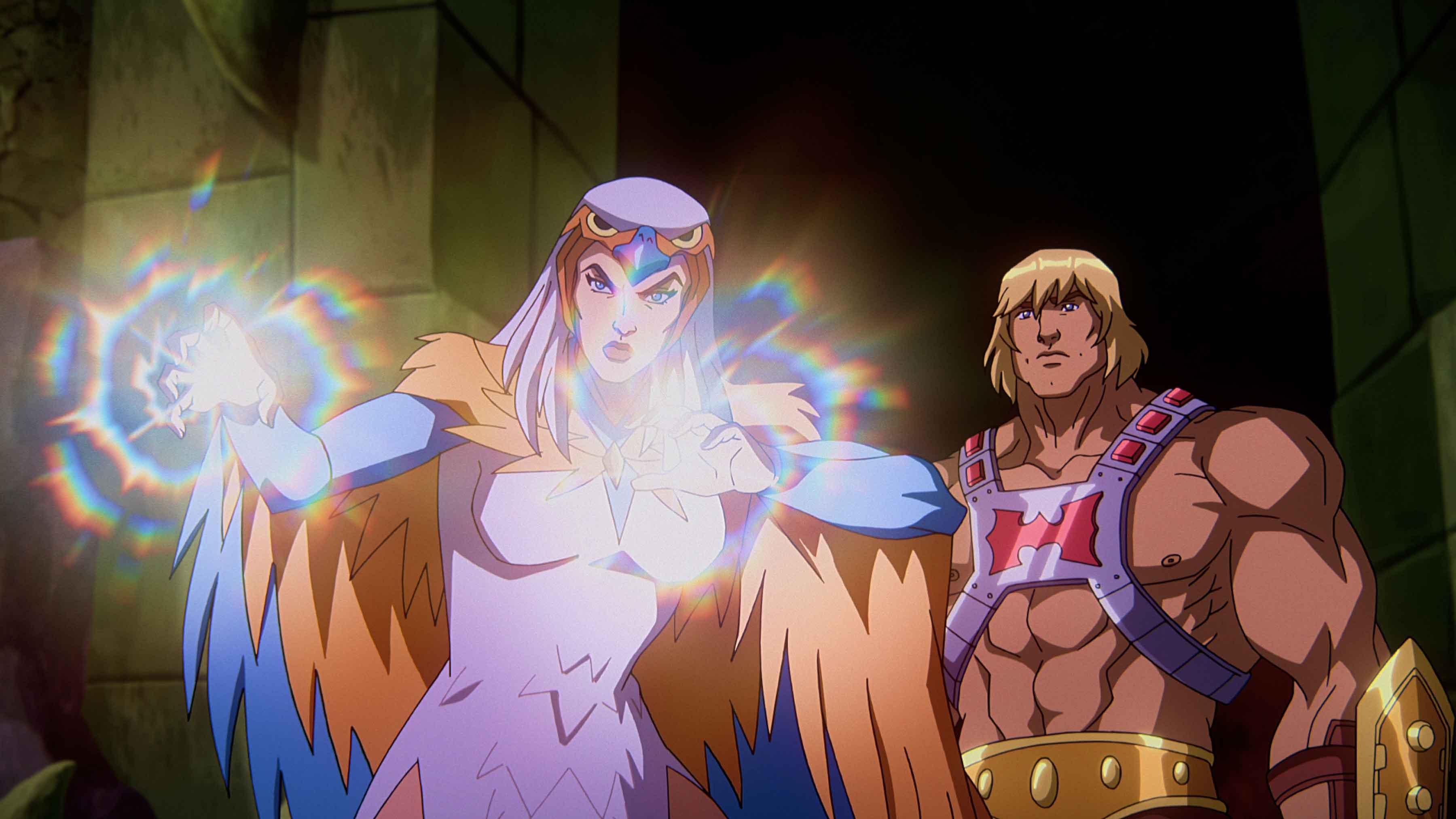 Susan Eisenberg è Sorceress, Chris Wood è He-Man